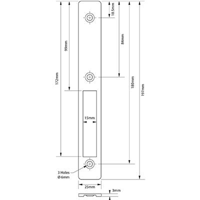 alpro - Narrow Stile Hookbolt - Euro Profile Cylinder