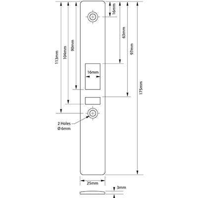 alpro - Deadlatch Euro Profile Cyl c/w Strike Plate